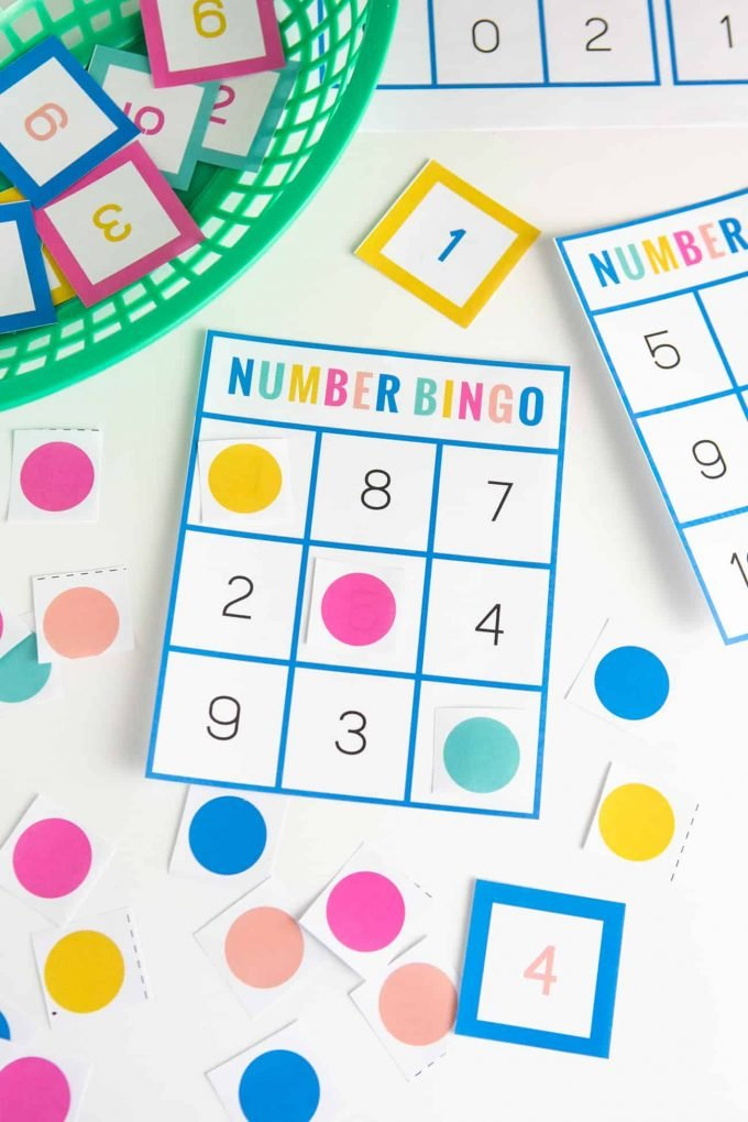 photograph regarding Free Printable Bingo Cards With Numbers titled Free of charge Printable Amount Bingo - Style Take in Repeat