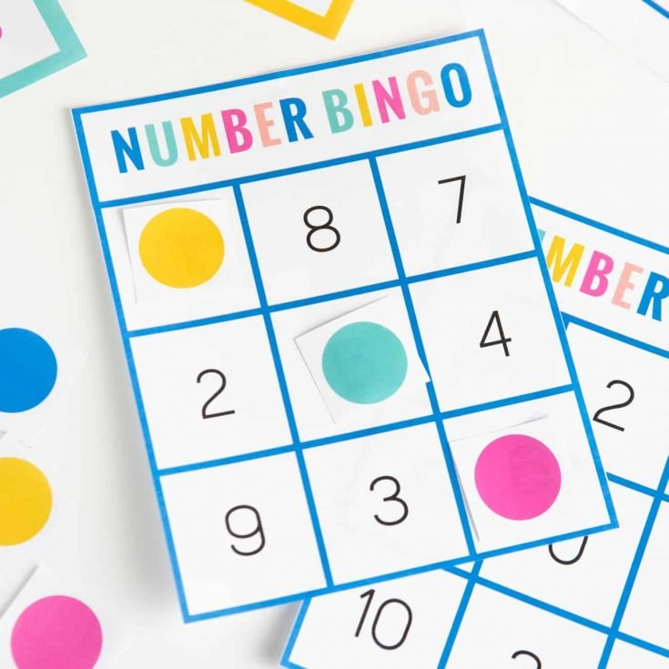 How To Make Free Printable Number Bingo Cards