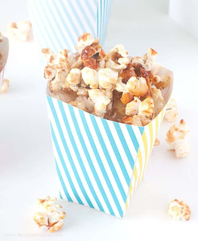 graphic relating to Popcorn Box Printable identified as No cost Printable Popcorn Box Template - Design and style Take in Repeat