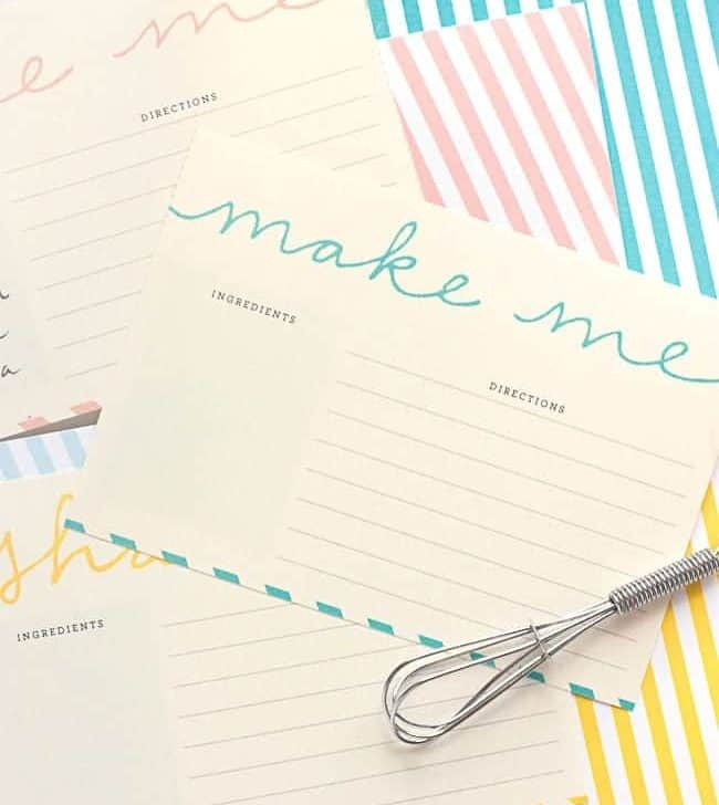 Free Printable Recipe Cards | Design Eat Repeat