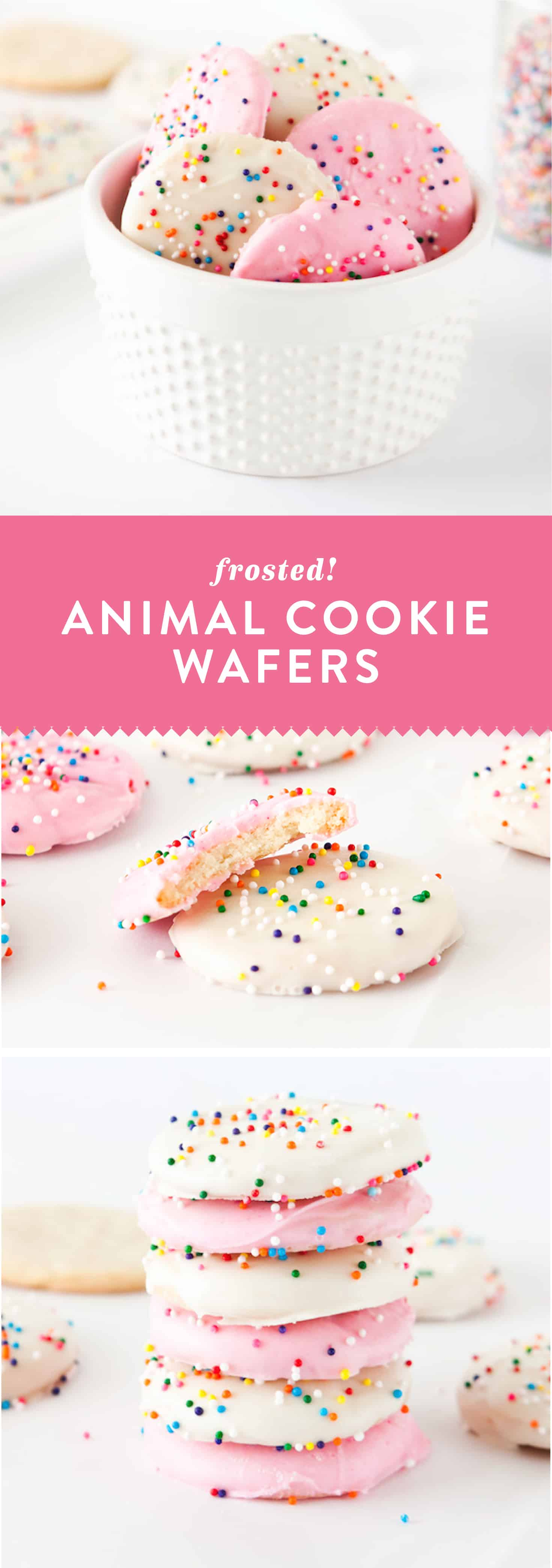 Homemade Frosted Animal Cookie Wafers