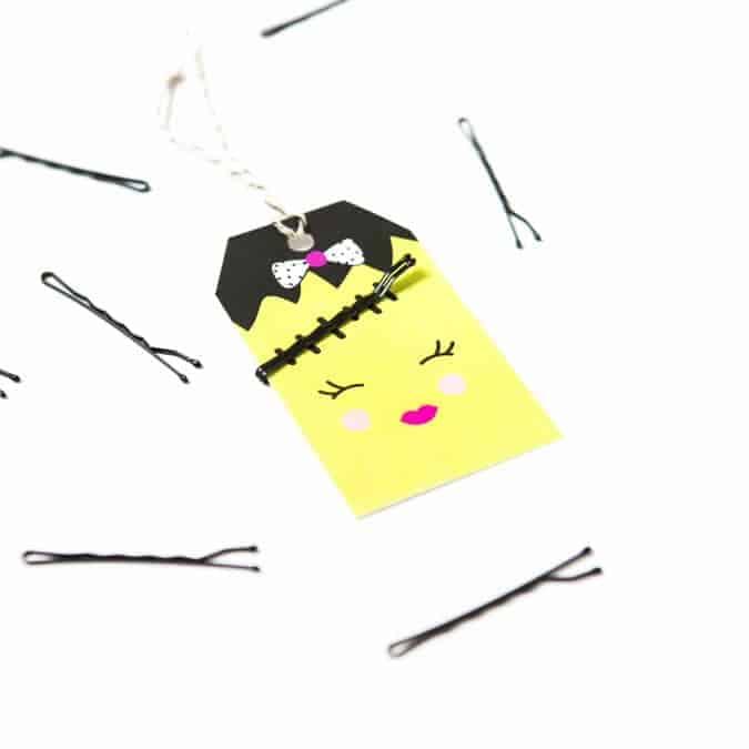 Bobby Pin Halloween Gift Tags