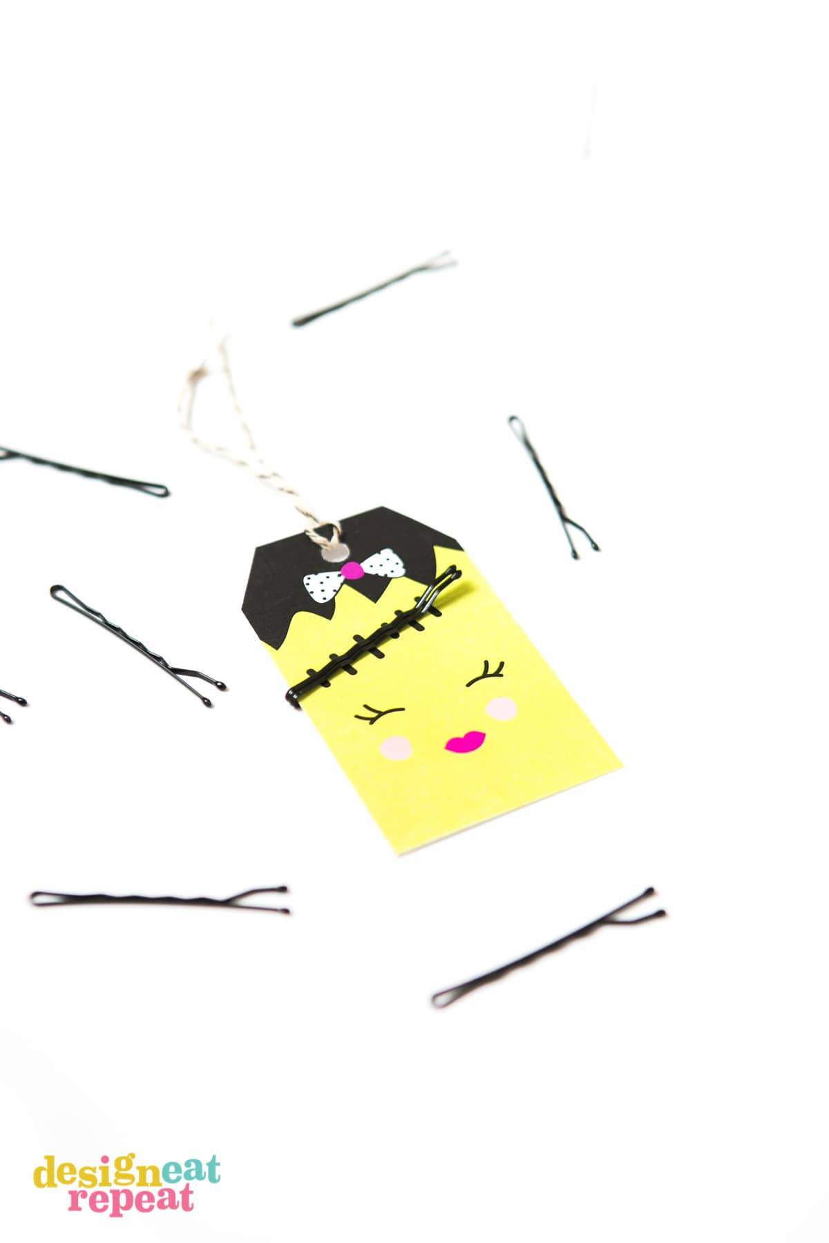 Bobby pin halloween gift tags attach bobby pins to these adorable halloween tags and help solve the mystery of where the negle Gallery