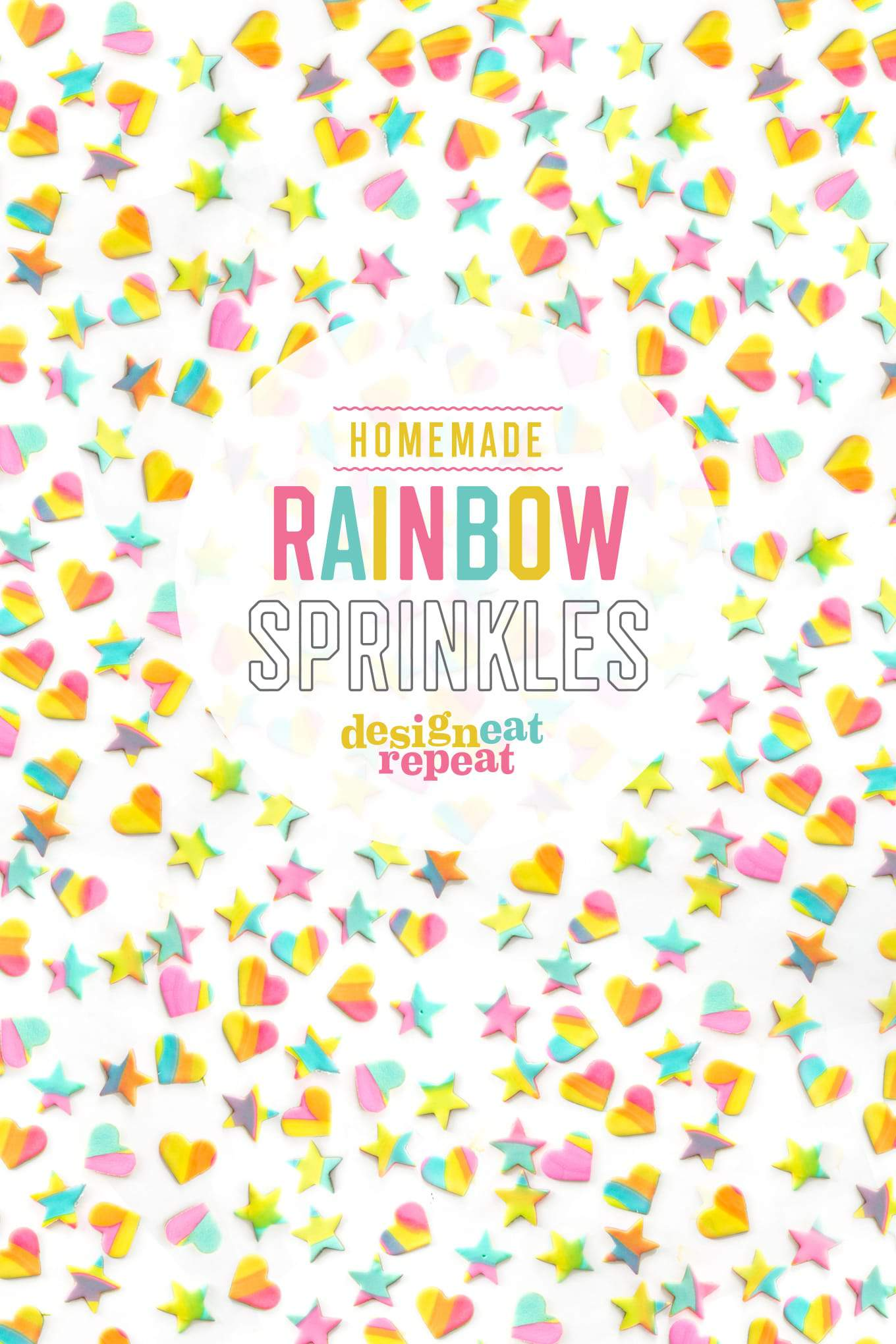 Learn how to make these EASY homemade rainbow sprinkles! Perfect way to turn any baked creation into a colorful treat!