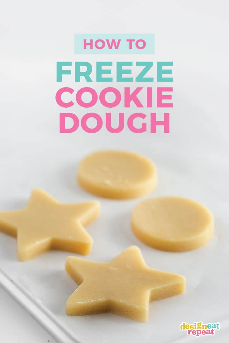 Learn how to freeze sugar cookie dough so you can prep it ahead of time and save time on decorating day!