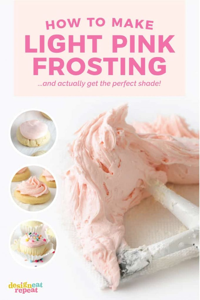 How to Make Light Pink Frosting