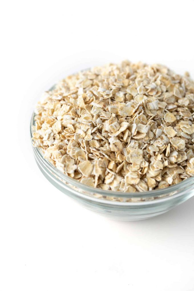 Bowl of quick oats