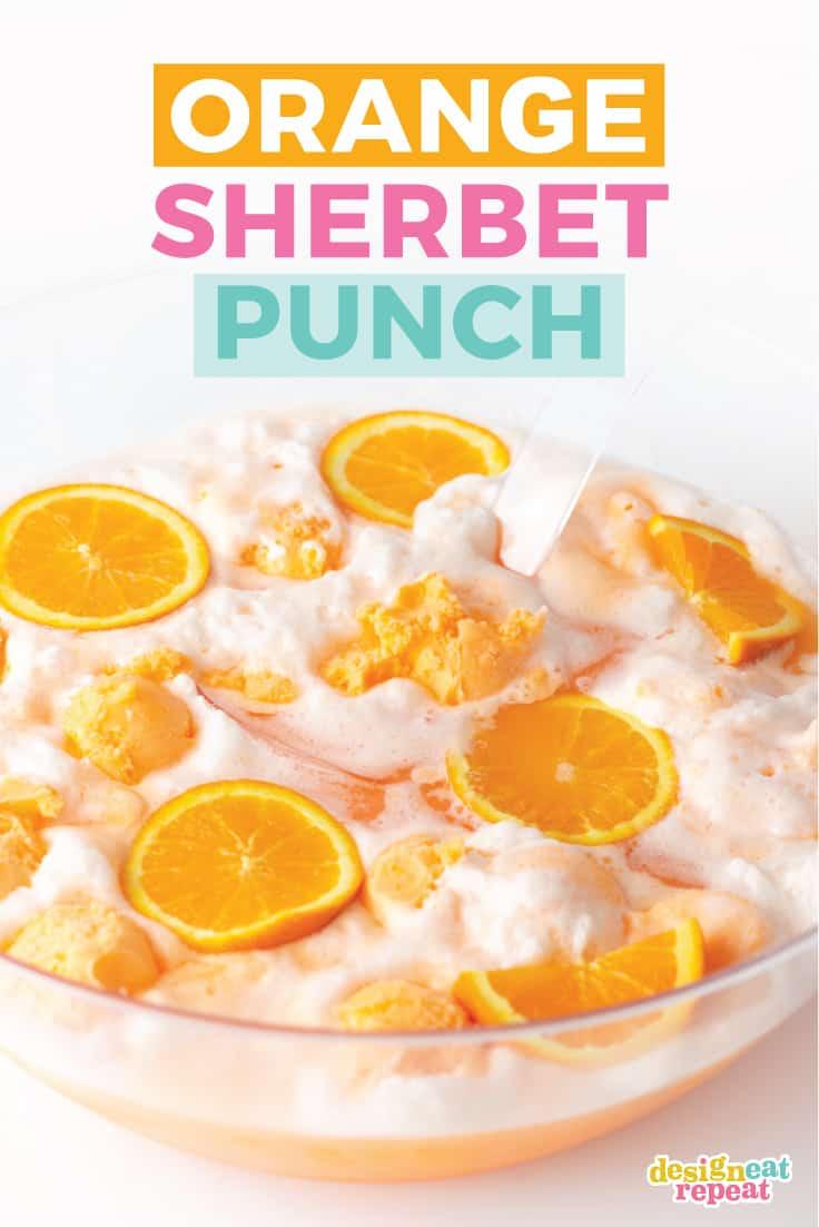 Easy Orange Sherbet Punch