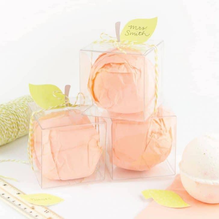Peach Bath Bomb Teacher Gift Boxes