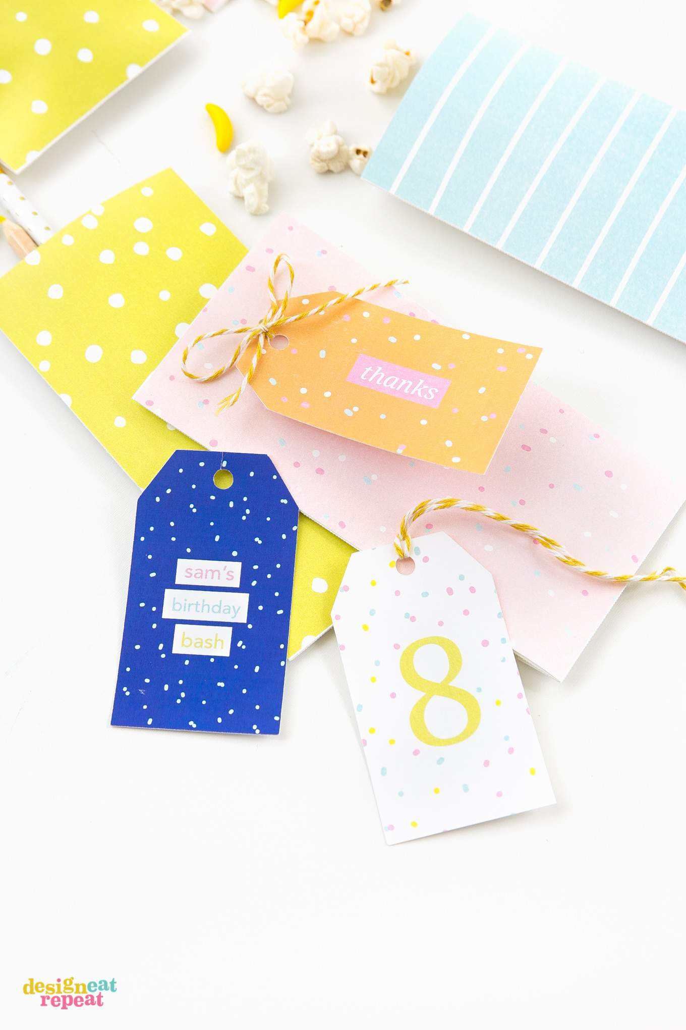 Download These Fun Colorful Printable Birthday Gift Tags And Attach Them To Treat Bags For