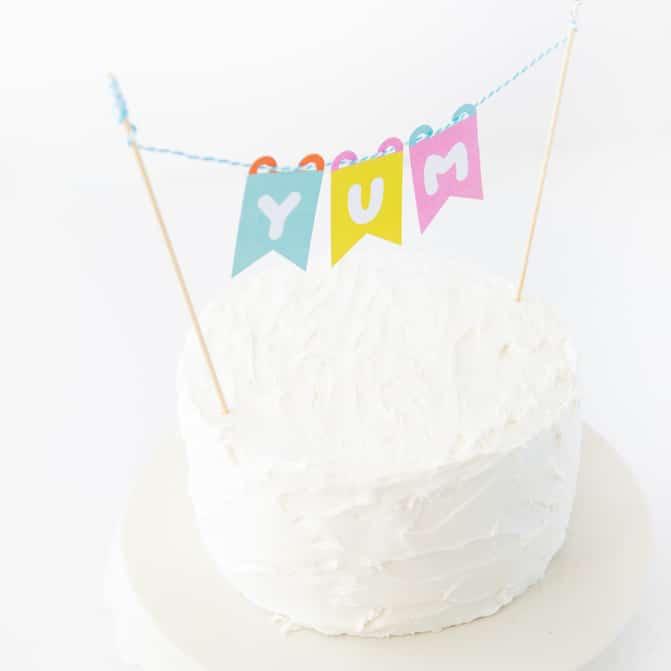 Printable Cake Topper Banner