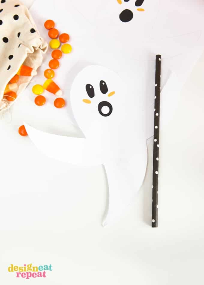Printable Ghost Straw Toppers