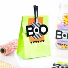 """Printable """"Boo"""" Halloween Gift Tags"""