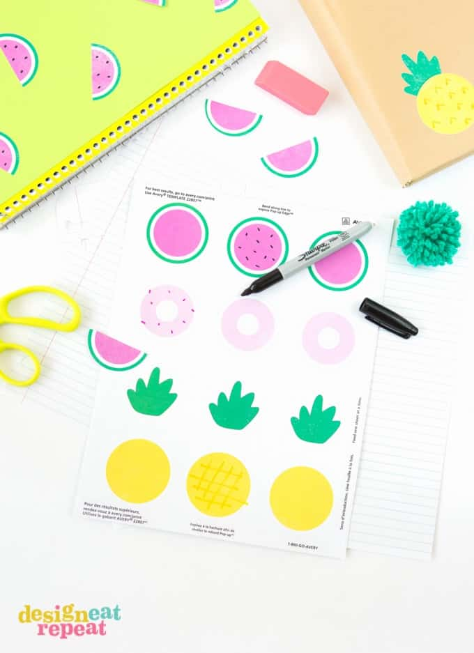 Back to School Printable Notebook Stickers