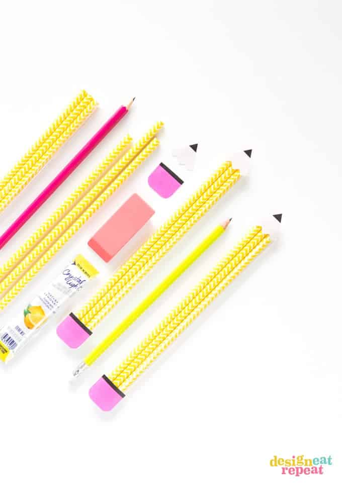 Looking for an easy end of the school year teacher gift? Turn paper straws into pencil pouches to help send your favorite teachers into summer!