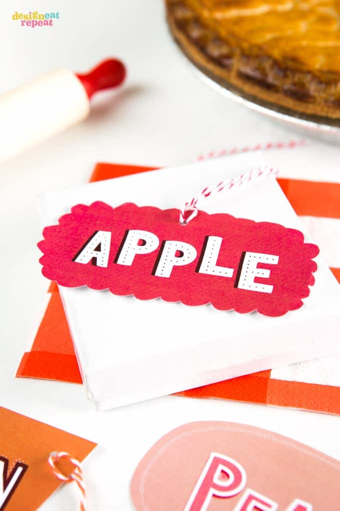 Free Printable Pie Tags!
