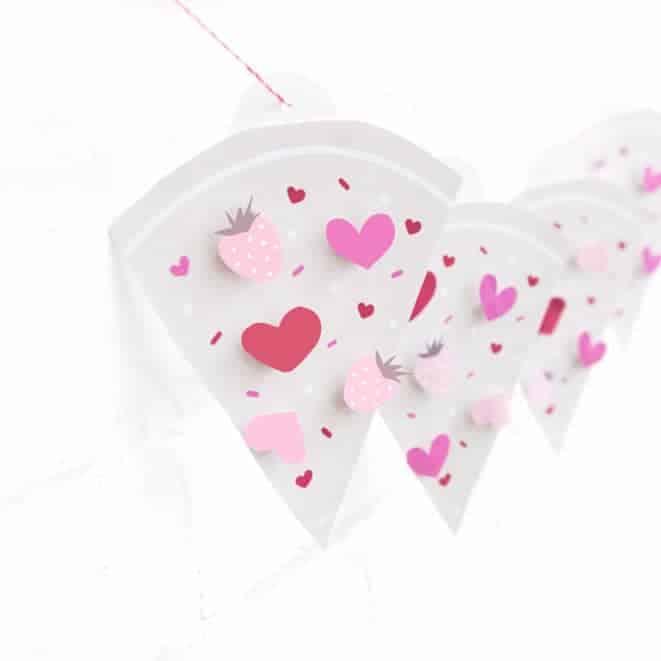 Printable Pizza Valentine's Day Banner