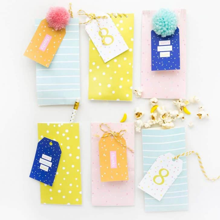 Confetti Printable Party Favor Bags