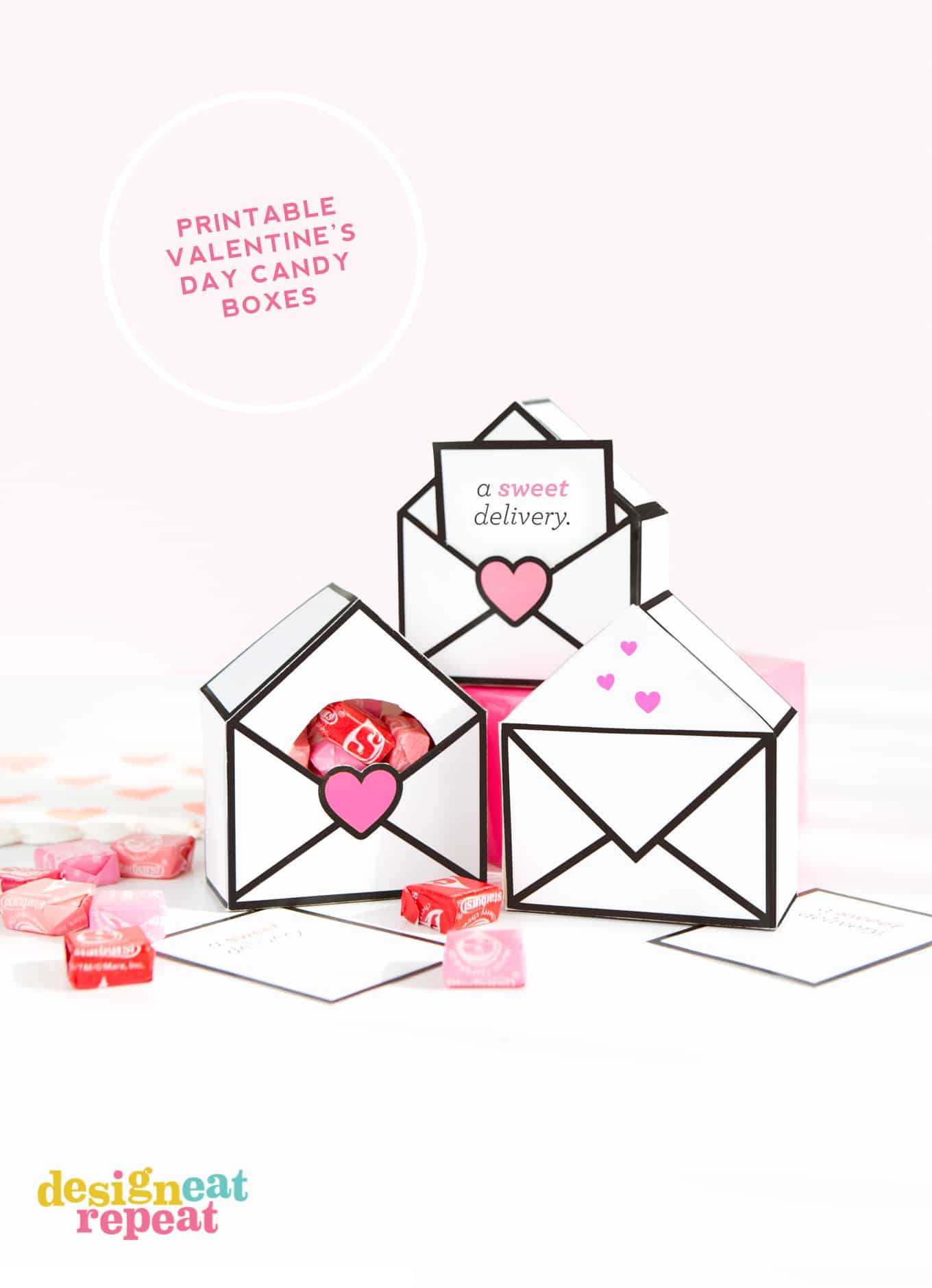 Fun & interactive printable Valentines gift boxes - free to download and perfect for candy!