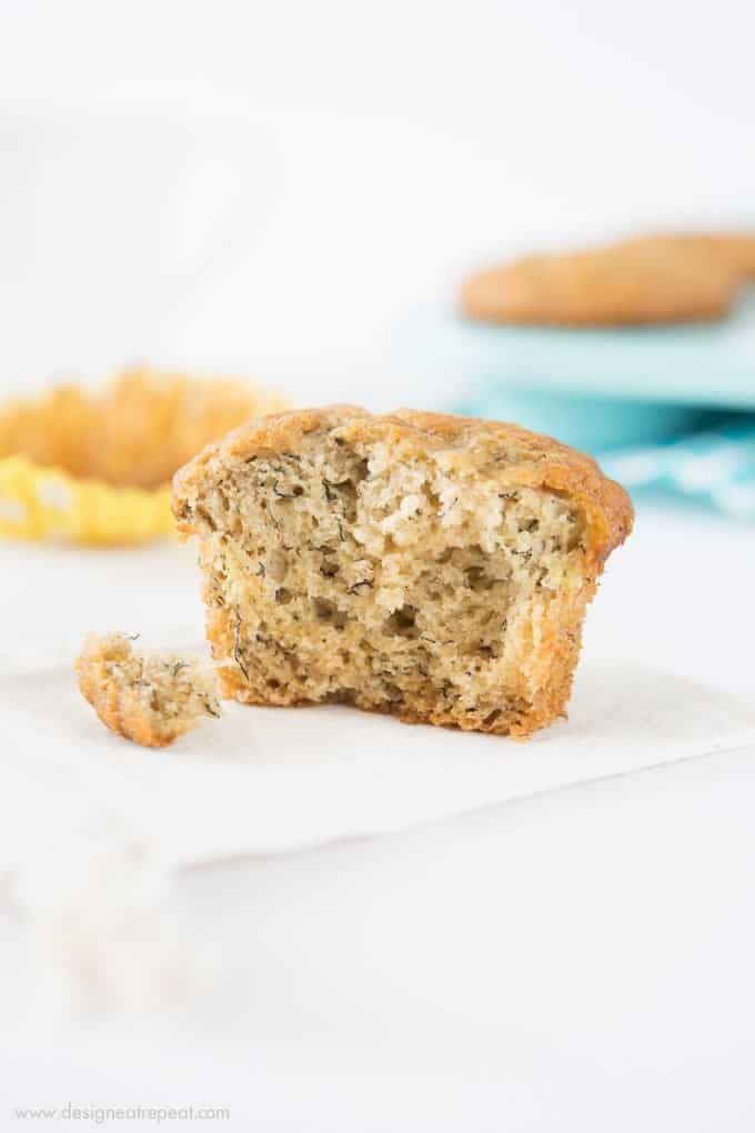These easy banana muffins are quick to throw together, full of flavor, and perfect for a last minute weekend breakfast!