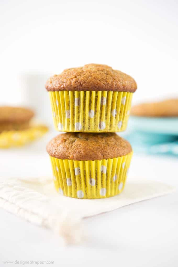 These easy banana muffins are quick to throw together, full of flavor ...