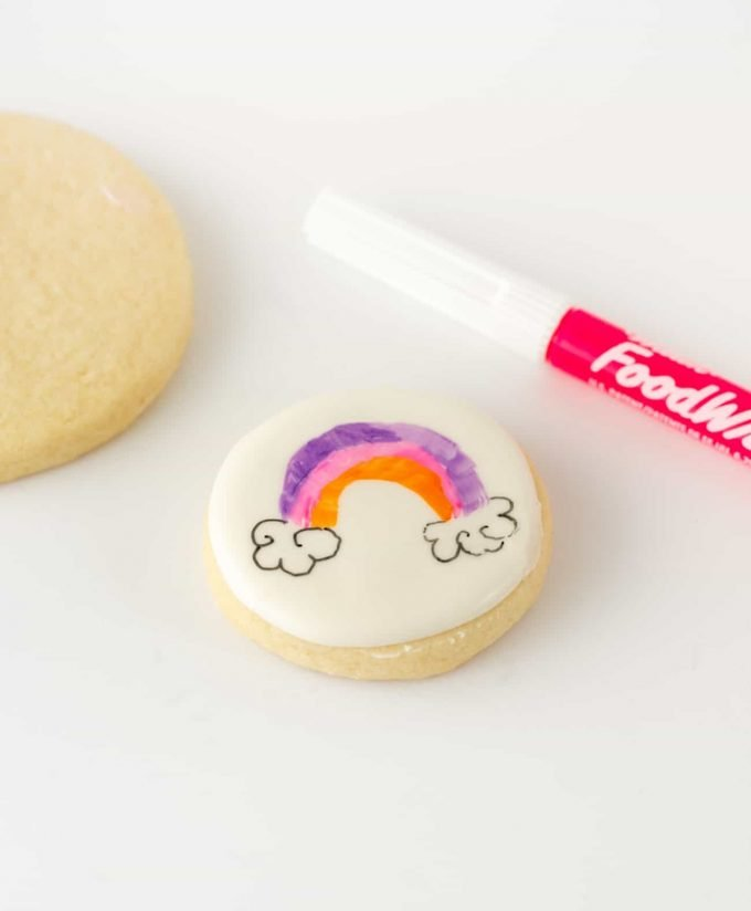 How to color on sugar cookies with edible colored food marker