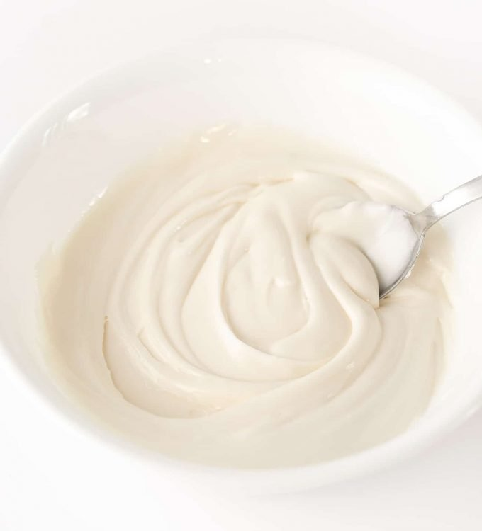 Bowl of White Royal Icing for Sugar Cookies
