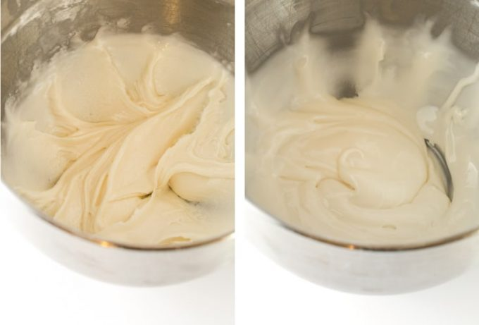 Mixing consistency for Royal Icing for Sugar Cookies