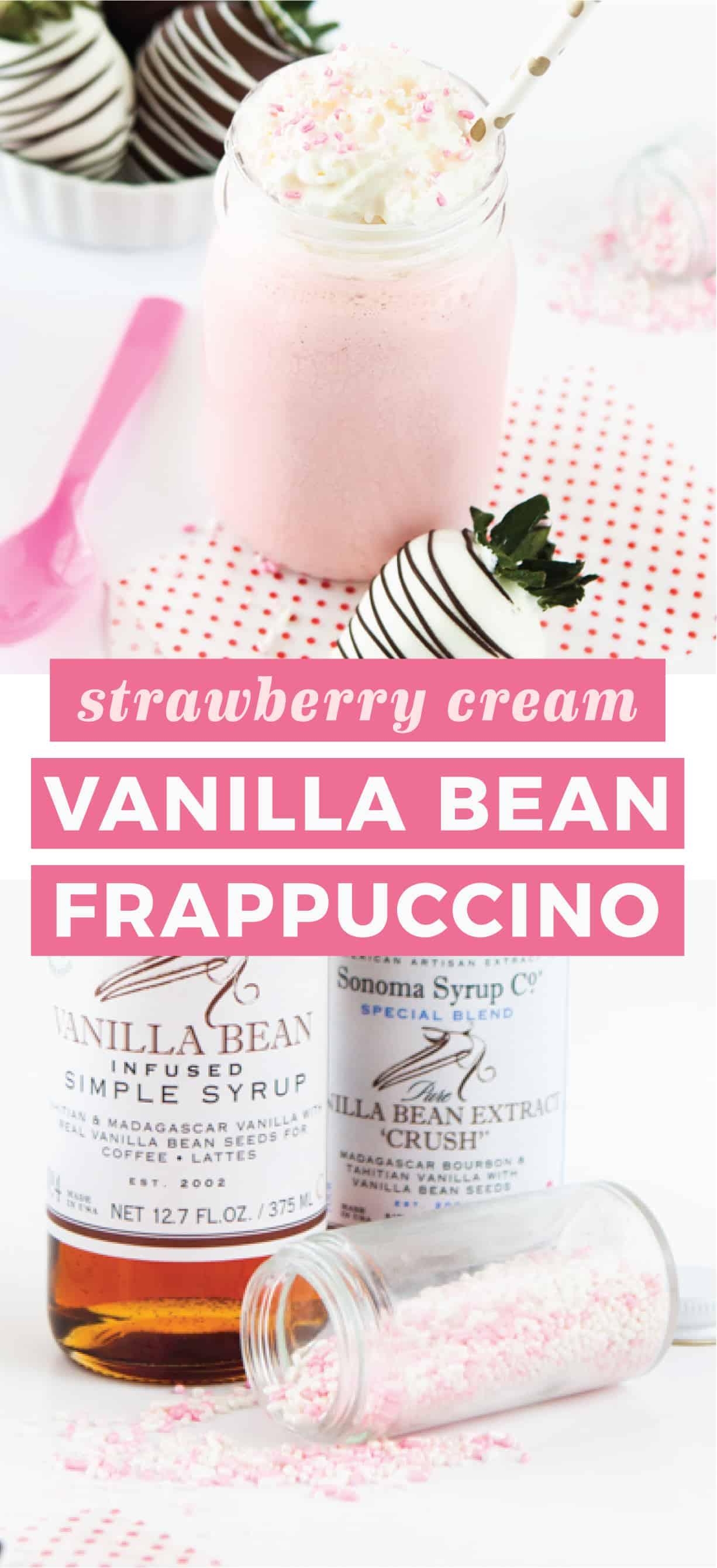Strawberry Cream Vanilla Bean Frappuccino