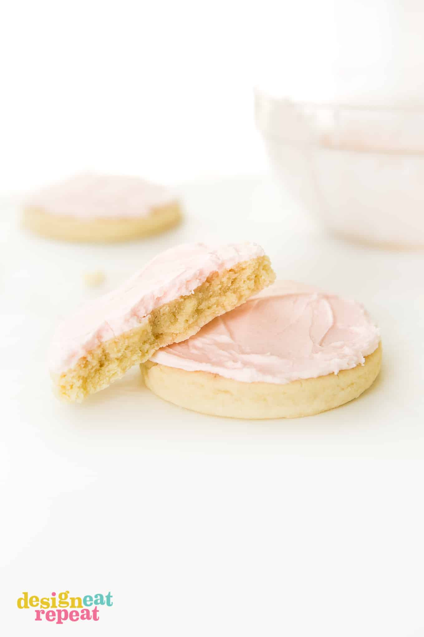 Replicate the famous Swig sugar cookie recipe by making a batch of these soft, thick sugar cookies - topped with delicious buttercream frosting! Perfect for Mother's Day, Valentine's Day, birthdays, or just as a go-to giftable treat.