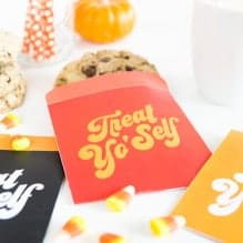 Treat Yo'Self Printable Treat Bags