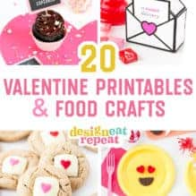 20 Easy Valentine Printables & Food Crafts